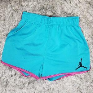 Jordan Blue Pink Girls Shorts Size L